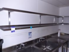4 Various Stainless Steel Wall Mount Shelves, Located at 14 Leicester Square, London WC2H 7NG