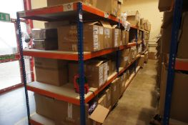 5 x Bays of Rapid Racking UA84 boltless shelving *Delayed collection, arrangements to be made with