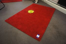2 x Red rugs