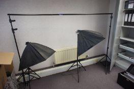 Assortment of photography lighting equipment