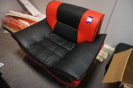 Leather effect chair, to mezzanine office