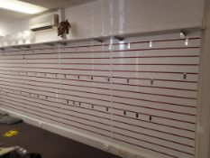 Quantity of shop display slatwall panels *Purchasers responsibility to dismantle / remove