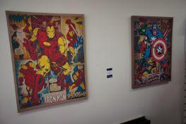 2 x Superhero canvas prints