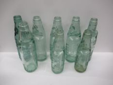 8x Grimsby (2x New Clee, 3x Louth, 1x Skegness, Louth & Horncastle) Bellamy Bros codd bottles