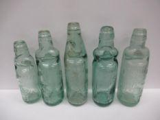 5x Grimsby Codd bottles (1x J.B. Sykes 8oz, all the rest 10oz)