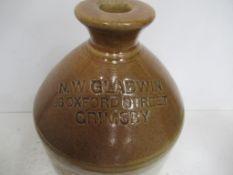 """N.W Gladwin 96 Oxford Street Grimsby Flagon """"missing handle"""""""