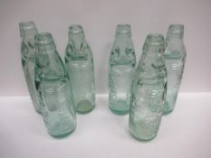6x Grimsby W.M Hill & Co (4) and W. Hill & Son (2) Codd bottles