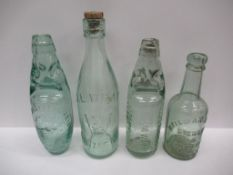 4x bottles including J.E. Wray- Grimsby, Home & Colonial Mineral Water Supply- Johannesburg, Bateman