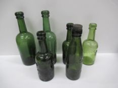 6x Grimsby E.A Lewis (3) and Lewis & Barker (3) coloured bottles