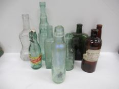Qty of Chemist/ Pharmacy themed bottles, from Grimsby (1x Brigg, 1x Scunthorpe)