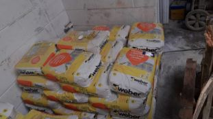 Approx. 30 x 25kg Bags of Earth Webber One Coat Re