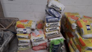 Approx. 18 x 25kg Bags of Various Shade Webber One