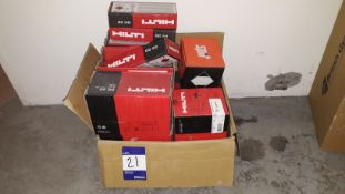 Small Quantity of Hilti Nails and GC22 Gas Caniste