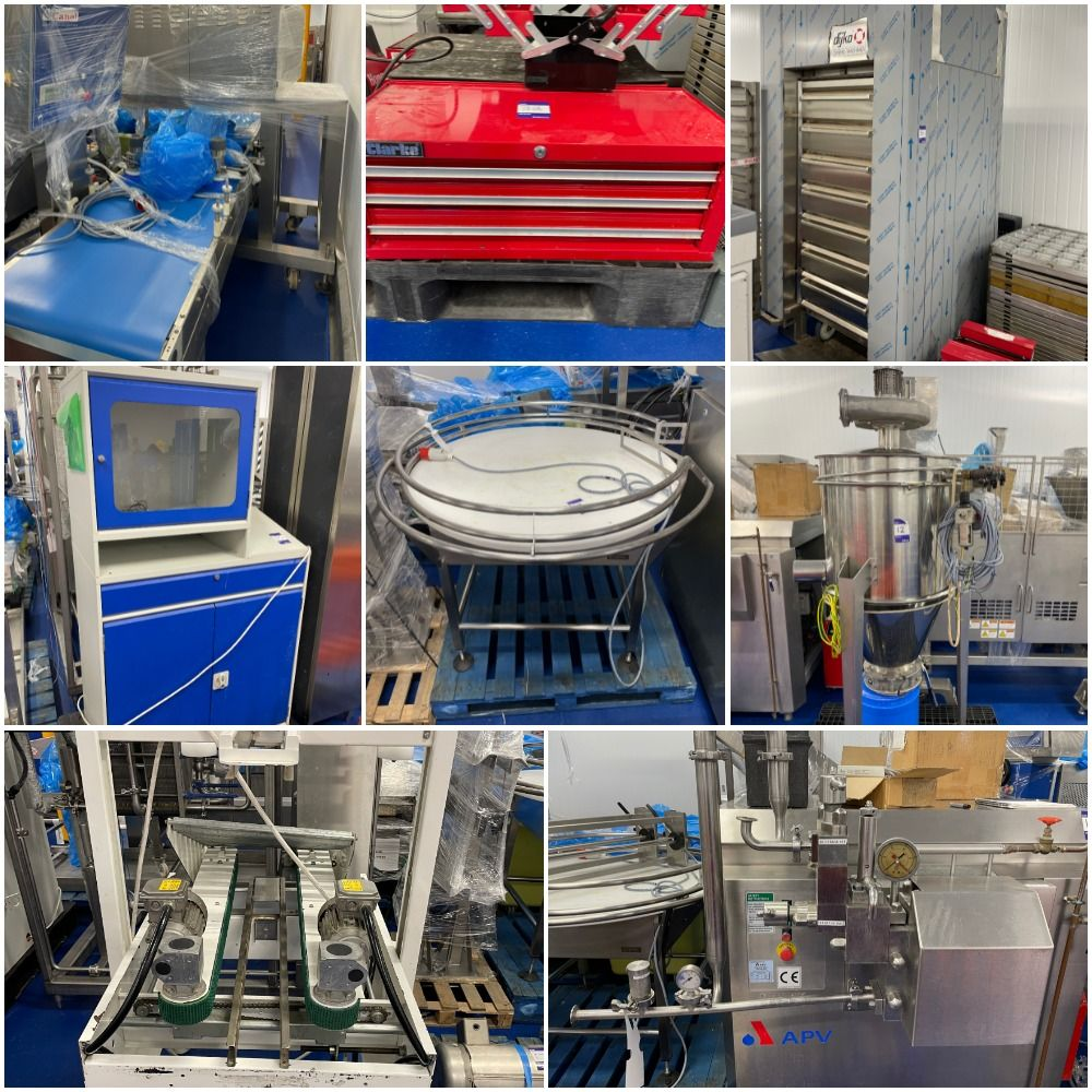 Commercial Pastry Equipment including Canol Laminating line and Rheon Mega Former