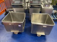 2 off SS Mobile Tote Bins