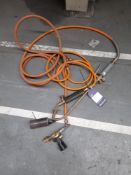 2 various gas torches as lotted