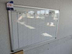 Annual planner whiteboard and quantity of various whiteboards, noticeboards to offices