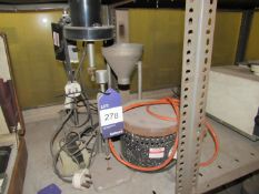 Various Sand Laboratory Equipment to include funnels, heater and scratch tester etc