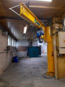 Chesterfield Crane Co Ltd Floor Mounted Jib Crane, serial number 18/9999, swl 500kg with Demag