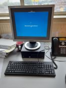 HP Intel Core PC with monitor keyboard and mouse