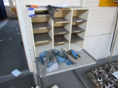 Pigeon hole unit with table
