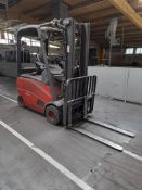Linde E20PH-01 electric forklift truck, year 2012, s/no. H2X386c01332, rated capacity 2000kg,