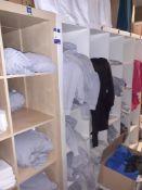 Quantity of Plain Hooded Sweat Shirts & T-Shirts to Shelving