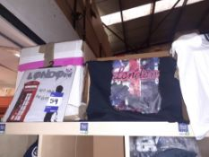 Ten Boxes of Mainly London & Scotland Themed T-Shirts to Top of Shelving