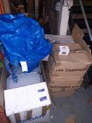 "Four Boxes of Edinburgh Castle Ornaments, Box of ""I Love London"" Keyrings & Box of Shelving"