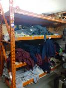 Rack & Contents of Plain Sweat Shirts