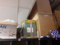 Thirteen Boxes of Various T-Shirts, Sweat Shirts & Novelty Item to Top of Shelving