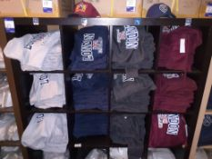 Shelving Unit & Contents of London Hooded Sweat Shirts