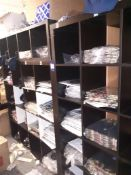 Quantity of London Themed T-Shirts & Union Jack Vests to Shelving