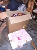 Two Boxes of Scottish Themed Clothing & Box of Cambridge Themed T-Shirts