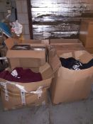 Three Boxes of Scottish Themed T-Shirts, Two Boxes of Scottish Themed Hooded Sweat Shirts & Box of