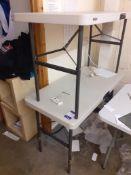 Three Folding Tables
