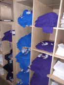 Quantity of Mainly Edinburgh Themed T-Shirts to Shelving