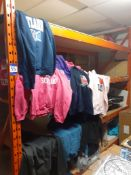 Rack & Contents of Various Themed & Plain Sweat Shirts, (not including Thermal Transfer Presses)