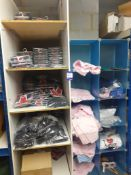 Contents of 2 Shelving Units to include T-Shirts, & Union Jack Boxer Shorts