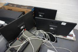 3 LG L2242C-BN Flatron Monitors, No Cables
