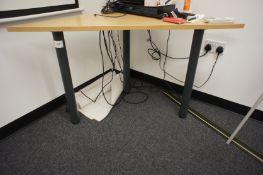 Oak Effect Triangular Office Table