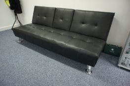 Leather Effect Contemporary Reception Sofa