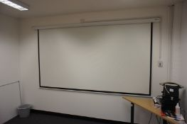 Home Gear Wall Mounted Projector Screen, Electric