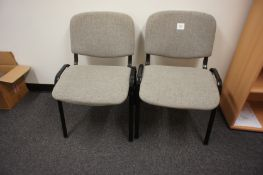 4 Upholstered Reception/Meeting Chairs