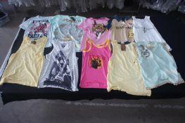 10 x Various designer vests & t-shirts, M