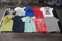 10 x Various designer T-shirts, L