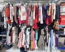 Approximately 260x Various Designer Ladies Tops to Include T - Shirts, Dresses, Blouses, Vests, Jump