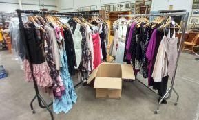 Approximately 110x Various Designer Ladies Dresses. Size 8 - 16