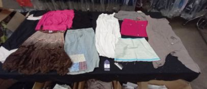 Large Quantity of Various Designer Ladies Clothes to Include Dresses, Tops and Skirts. Size 6 -14