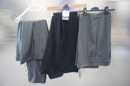 3 x Various designer formal trousers, 40W, Various
